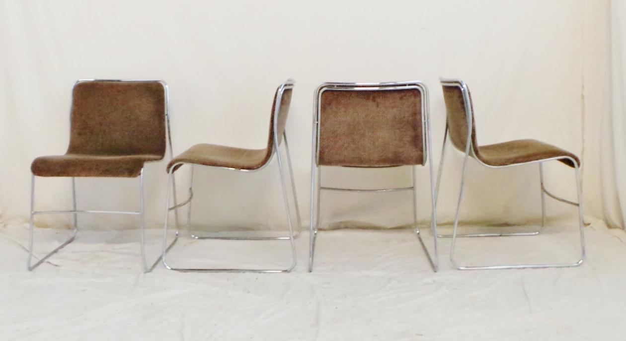 4 sedie anni 70 struttura tubolare cromata stile massimo for Sedie design anni 70