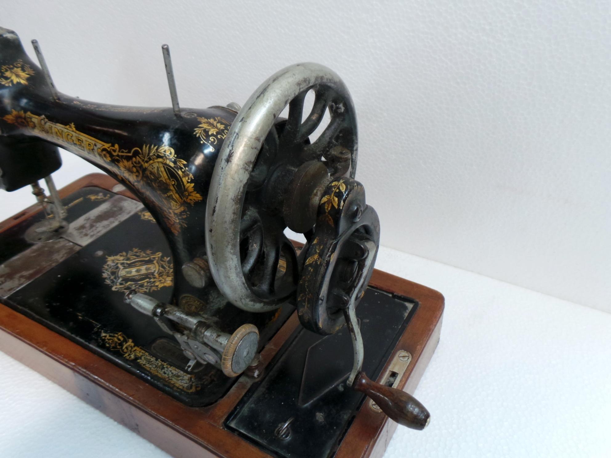 macchina da cucire singer da tavolo manovella