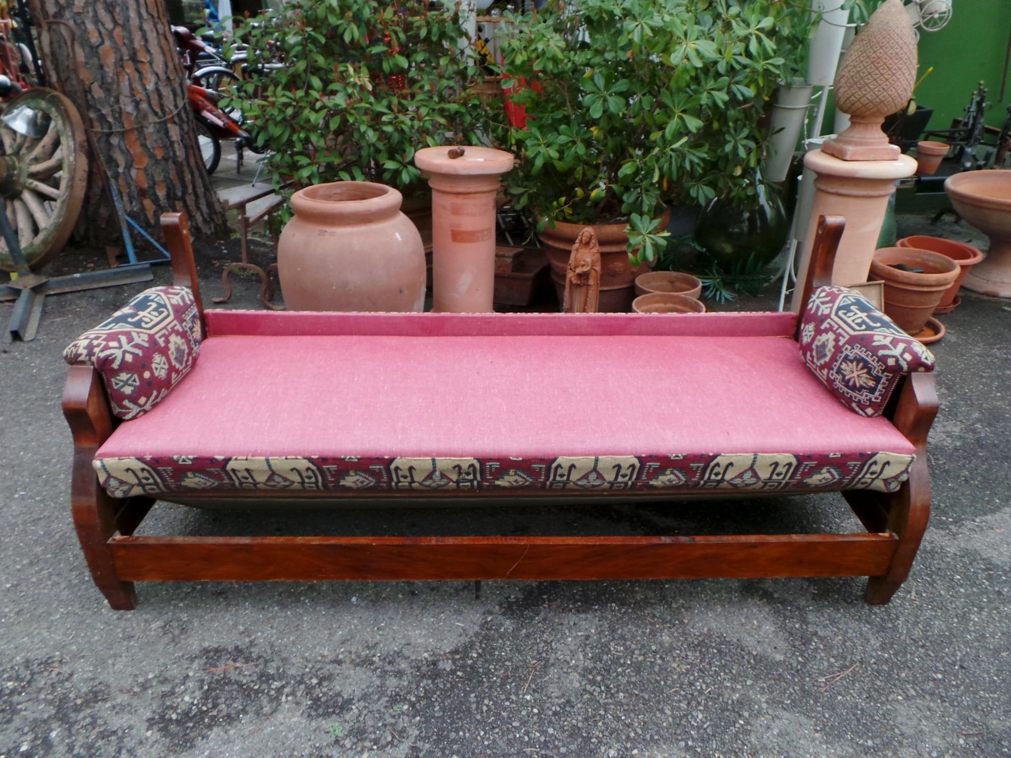Antico divano letto noce ribaltabile for Divano ottomana