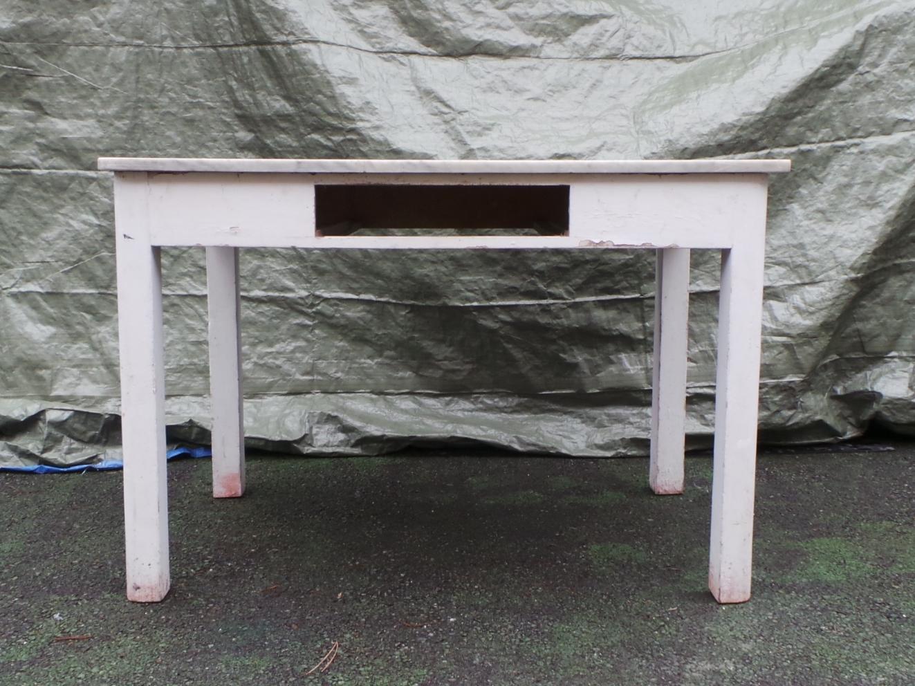 Tavolo legno laccato bianco piano marmo fronte - Tavolo piano marmo ...