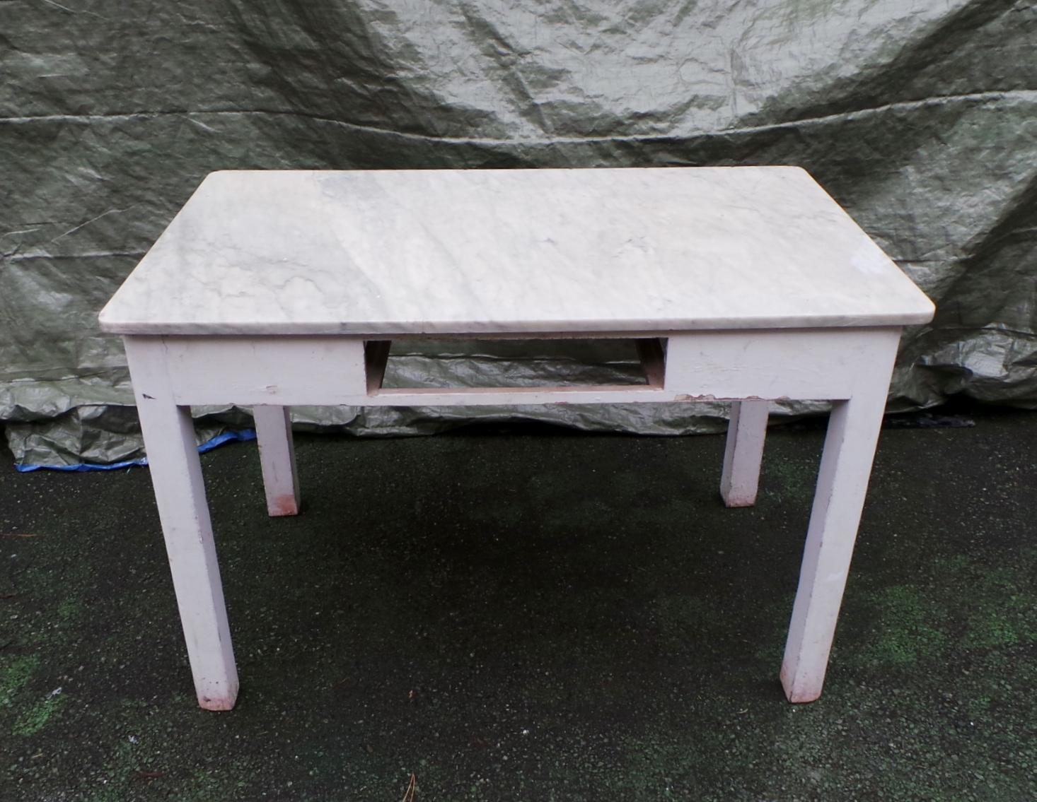 Tavolo legno laccato bianco piano marmo - Tavolo piano marmo ...
