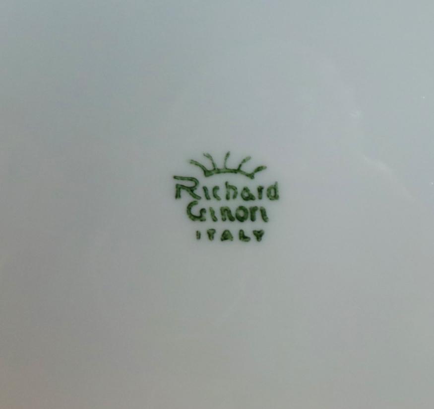 Marchi Richard Ginori.Vassoietto Porcellana Richard Ginori Marchio
